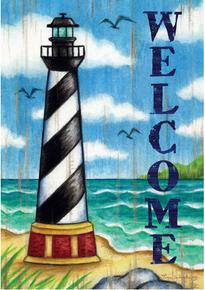 Garden Flag Cape Hatteras Lighthouse Welcome
