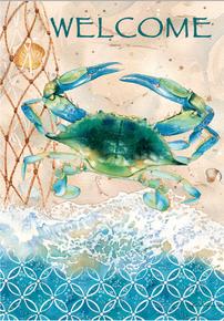 Garden Flag Blue Crab Net