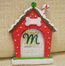 Dog House Frame Christmas Ornament