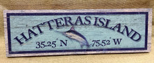 Hatteras Island Blue Marlin Wood Wall Art