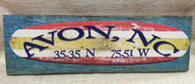 Avon Surfboard Wood Wall Art