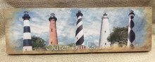 Lighthouses of the Outer Banks Wood Wall Art