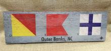 OBX Signal Flags Wood Wall Wart