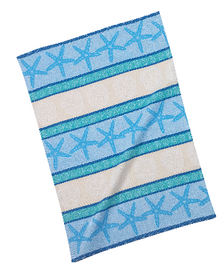 Blue Shells Jacquard  Tea Towel