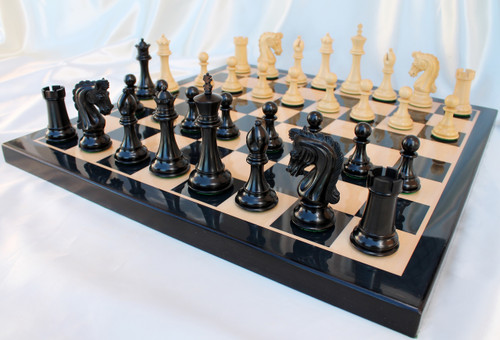 "The Sir Lancelot du Lac Staunton Luxury Chess Pieces Set with 114mm (4.5"") King in Ebony"