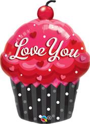 """35"""" Love You Cupcake Balloon"""