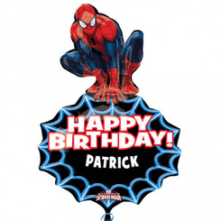 "33"" Spider-man Personalized Birthday Balloon (Can add name)"