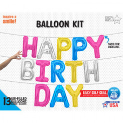 "16"" HAPPY BIRTHDAY KIT - MULTI COLOUR - AIR-FILLED (CANT FLY)"