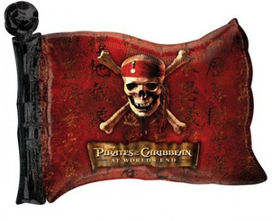 "27"" Pirates of the Caribbean Flag"