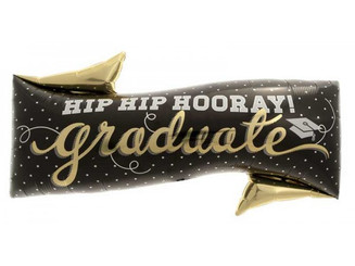 "31"" Hip Hip Hooray Grad"