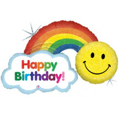 "44"" Happy Birthday Rainbow"