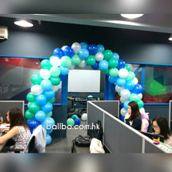 Office Balloon Arch Setup @ North Point Industrial Building