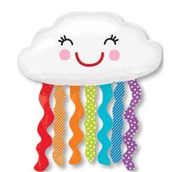 "30"" Rainbow Cloud Super Shape"