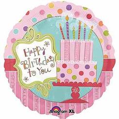 "18"" Sweet Stuff Cake Happy Birthday"