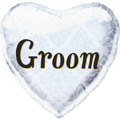 "18"" Groom Silver Heart"