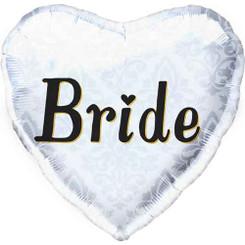 """18"""" Bride Silver Heart"""