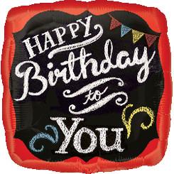 "18"" Chalkboard Happy Birthday"