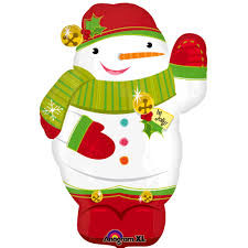 "18"" Jolly Snowman Junior Shape Foil Balloon"