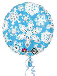 "18"" Blue & White Frosty Snowflakes"