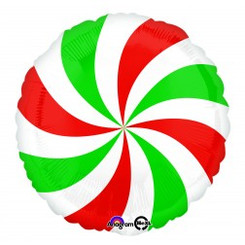 "18"" Red & Green Swirl"