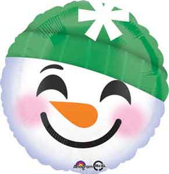 "18"" Emoji Snowman Foil Balloons"