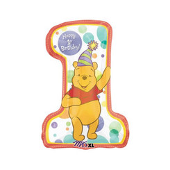 Winnie the pooh first birthday super shape foil balloon