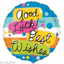 "18"" Good Luck Best Wishes"