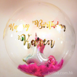 "24"" Unicorn Crystal Balloon with Message"