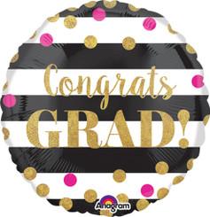 """18"""" Gold Confetti Grad"""