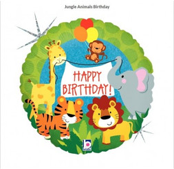 "18"" Jungle Animals Birthday Party (Holographic Foil)"