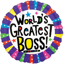 "18"" World's Greatest Boss"