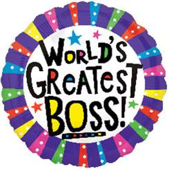"18"" World's Greatest Boss"