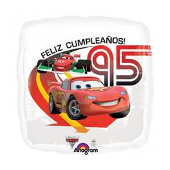 """18"""" Cars 2 Felix Cumpleanos (see-thru)"""
