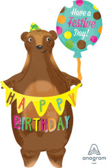"38"" Birthday Bear with Banner"