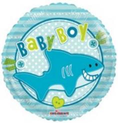 """18"""" Baby Boy Little Shark"""