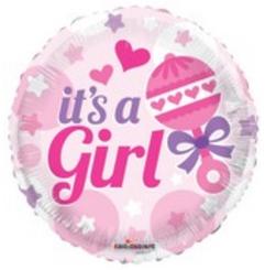 """18"""" Baby Rattle Girl"""