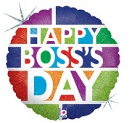 "18"" Happy Boss's Day Block"