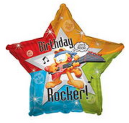 "17"" Garfield Rockin Happy Birthday Day"
