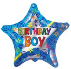 "18"" Birthday Boy Star"