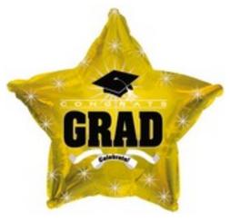 """18"""" Congrats Grad Gold Star"""