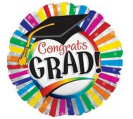 "17"" Grad Rainbow Stripes Balloon"