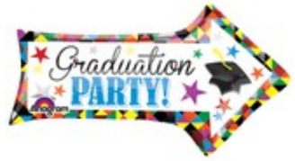 "36"" SuperShape Grad Party Arrow"