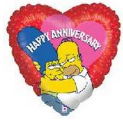 "18"" Simpsons Anniversary Heart"