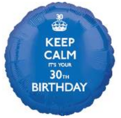 18'' Keep Calm 30th Birthday