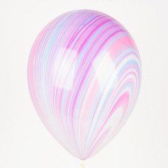 "11"" Purple/blue Marble Latex Balloon"