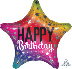 """18"""" Rainbow Star Birthday"""