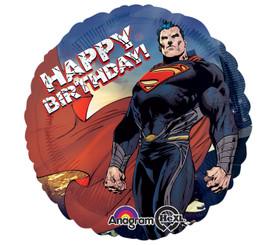 """18"""" HBD Superman Round"""