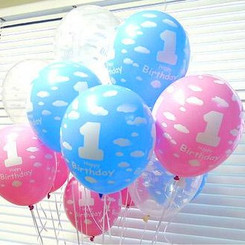 1st Birthday Latex Balloon
