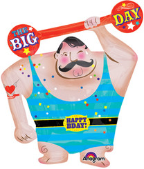 "31"" Circus Strong Man Super Shape Balloon"