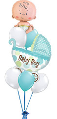 Baby Boy Car Bouquet